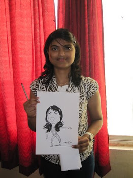 nitk-student with her caricature
