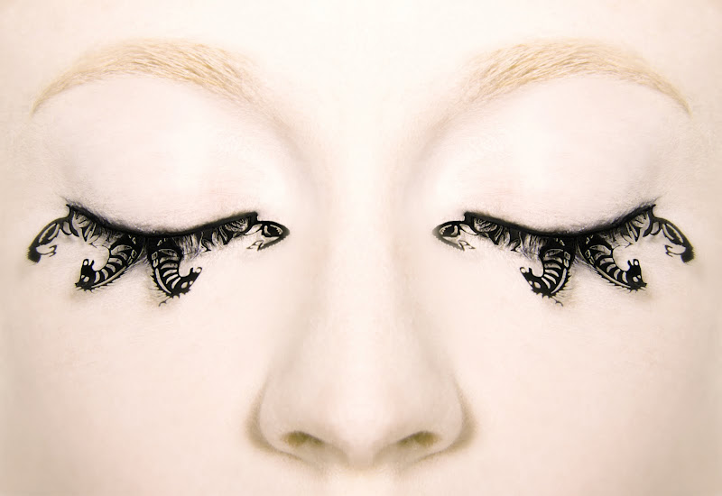 Here you are, my lovely eyelashes--Paper eyelashes, the newest edition  title=