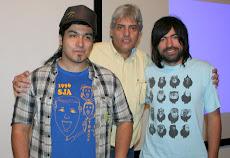 Pablo y Seba  invitaron a la UNE, cuando estuvieron de gira por Latinoamérica