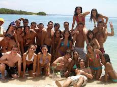 Trabajo de campo UNE en Morrocoy, Tucacas, Hotel Coral Reef y Cayo Boca seca.