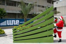 Santa Claus is Coming to UNE Town!, y los niños celebraron su fiesta de Navidad 2008