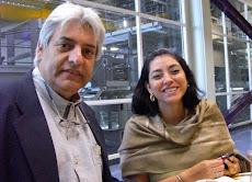 Blanca Iglesias Jefa Ventas de Lider Ultimas Noticias y Mundo junto a Juan Miguel Avalos