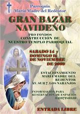 Bazar Navideño el próximo 14 y 15 de noviembre pro fondos del templo parroquial. frente a la UNE