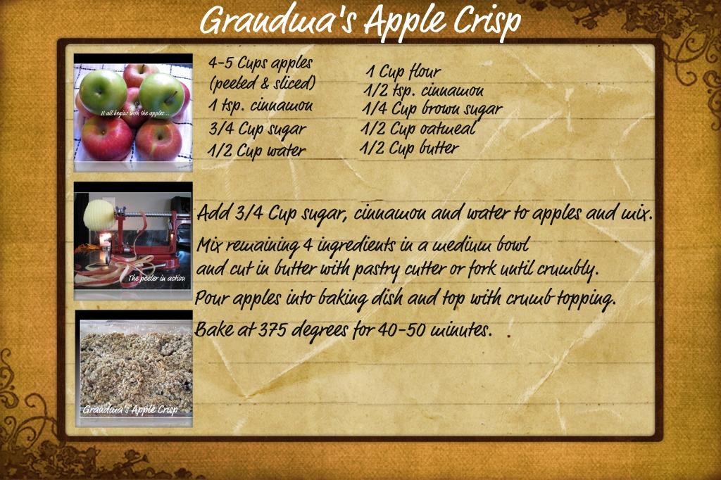 Grandma's Apple Crisp With Equal - Recipe | Cooks.com