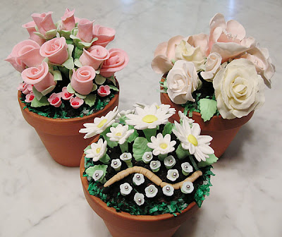 Flower Order on Flower Pot Cake A Real Flower Pot With A Real Cake Baked Inside Topped