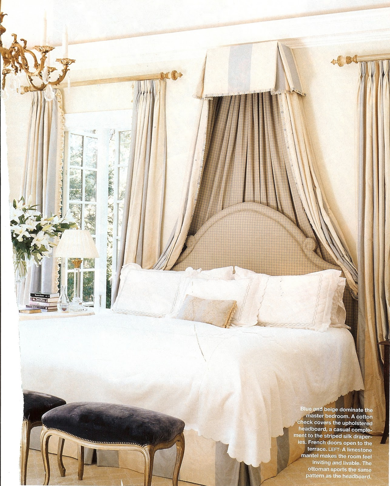 petit chateau: beautiful bedrooms