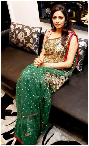 , Sridevi Hot Pics in Saree - Age of 53
