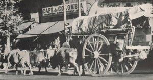 Carreta La Cachirla - data del año 1885 (Volviendo del pasado por calles de Mataderos- 1985 circa.)