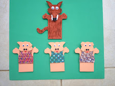 Dedoche EVA: Três Porquinhos
