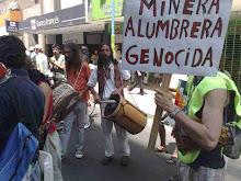 Escracha a minera La Alumbrera en Tucumán