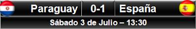 Paraguay 0-1 España