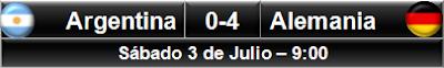 Argentina 0-4 Alemania