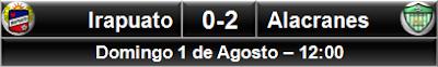 Freseros Irapuato 0-2 Alacranes Durango