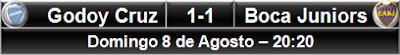 Godoy Cruz 1-1 Boca Juniors