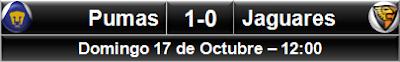 Pumas UNAM 1-0 Jaguares
