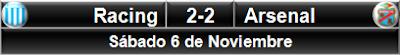 Racing Club 2-2 Arsenal Sarandí