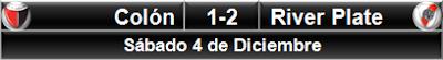 Colón 1-2 River Plate