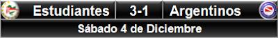 Estudiantes LP 3-1 Argentinos Jrs.