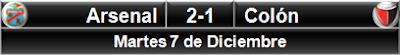 Arsenal Sarandí 2-1 Colón
