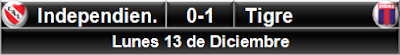 Independiente 0-1 Tigre