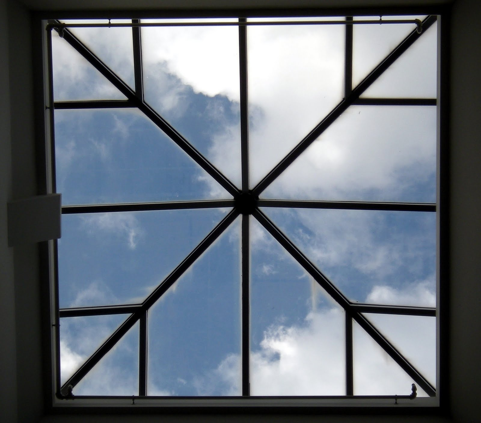 Clouds Seen Through A Skylight At Hood College In Frederick, Md