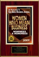Women Who Mean Business Award