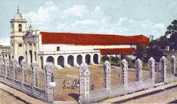 Vista de la Iglesia y Convento Santa Ana (padres franciscanos) a comienzos siglo XX
