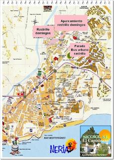 mapa situación rastrillo de los domingos en Nerja