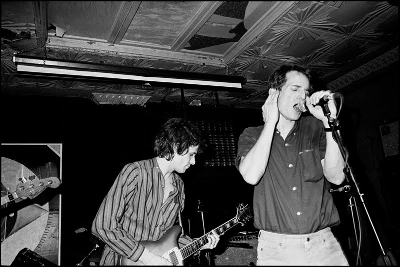 Paul Westerberg (L) with Alex Chilton