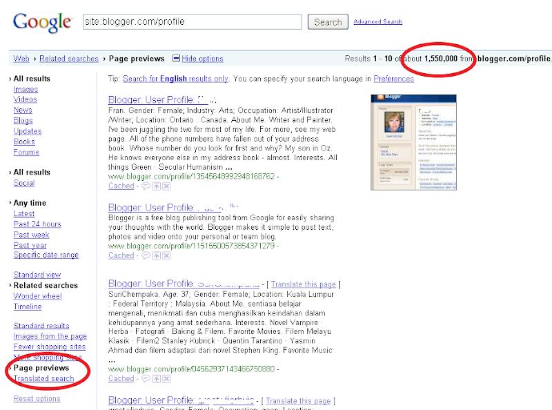 Stats Anzahl-Blogger-Profile-Blogger-Blogs-07 01 2010-Google.com