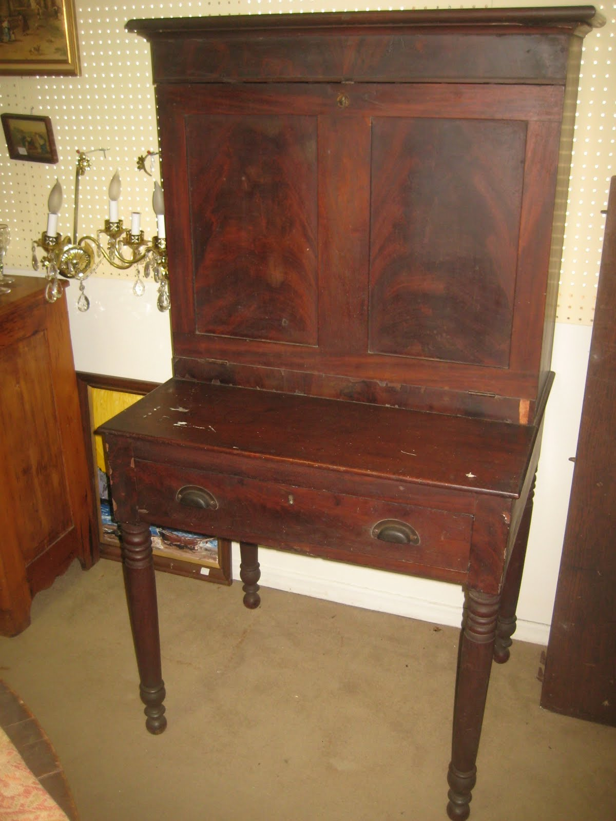Mobile Alabama plantation desk I bought today part one - Southern Folk Artist & Antiques Dealer/Collector: Mobile Alabama
