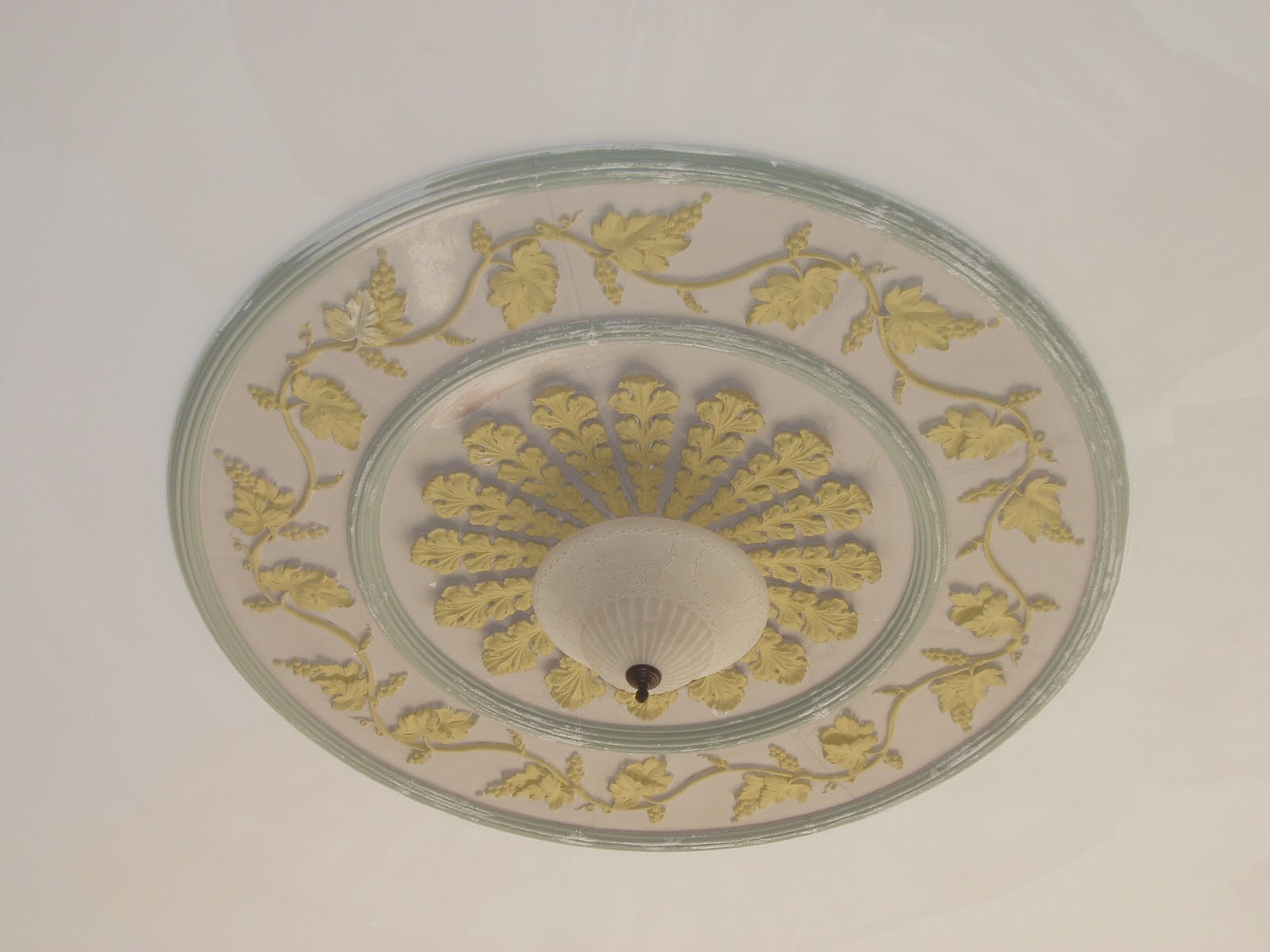 ... ceiling decoration and a plaster cornice imported from France