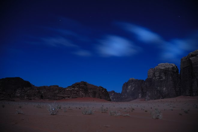 La noche en el Wadi Rum