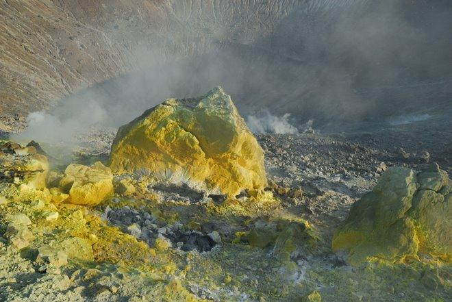 Acceso restringido al cráter...