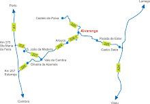 Como chegar a Alvarenga