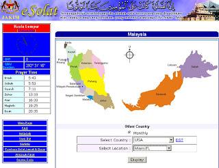click website www e solat gov my