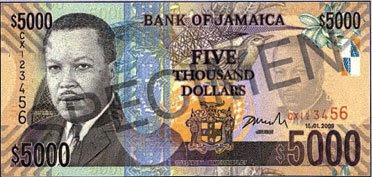 Jamaican+5000+bill