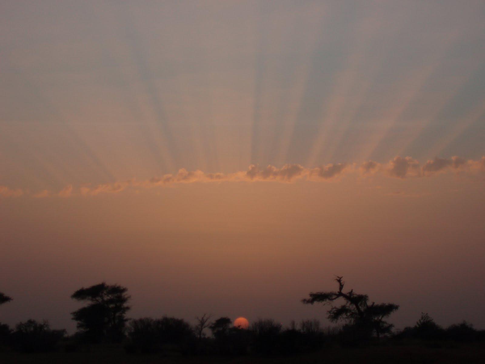 African Sunset - Edge of Sahara, Senegal, West Africa 2009