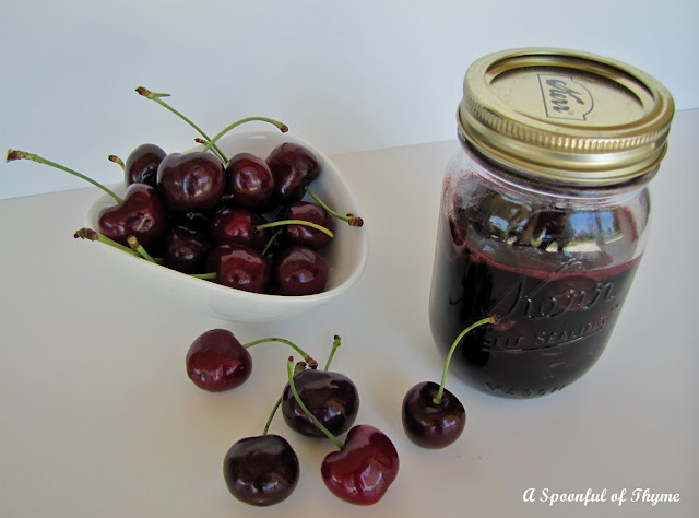 Spoonful of Thyme: Cherries in Red Wine Syrup