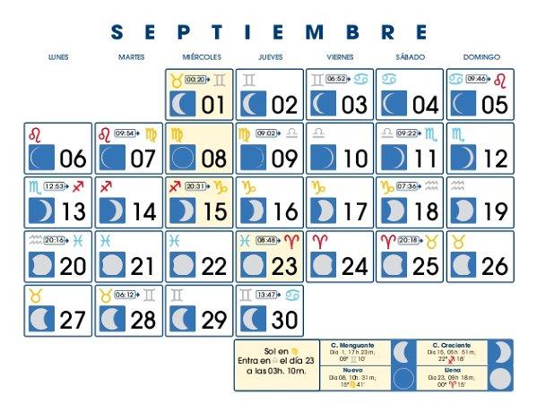 Club astrolog a hoy calendario lunar mes de septiembre 2010 for Calendario lunar de hoy