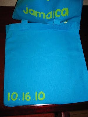 One thing that was really important to me was doing OutofTown Bags for our