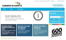 Trámites on-line- Portal del Gobierno de Sta Fe