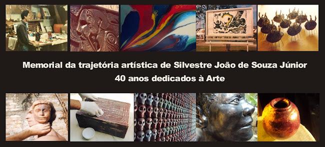 """""""Memorial da trajetória artística de Silvestre João de Souza Júnior - 40 anos dedicados à Arte"""""""