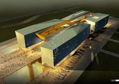 Design Ideas: Ningbo Museum, Ningbo, Zhejiang-in+of architecture
