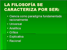 CARACTERÍSTICAS DE LA FILOSOFÍA