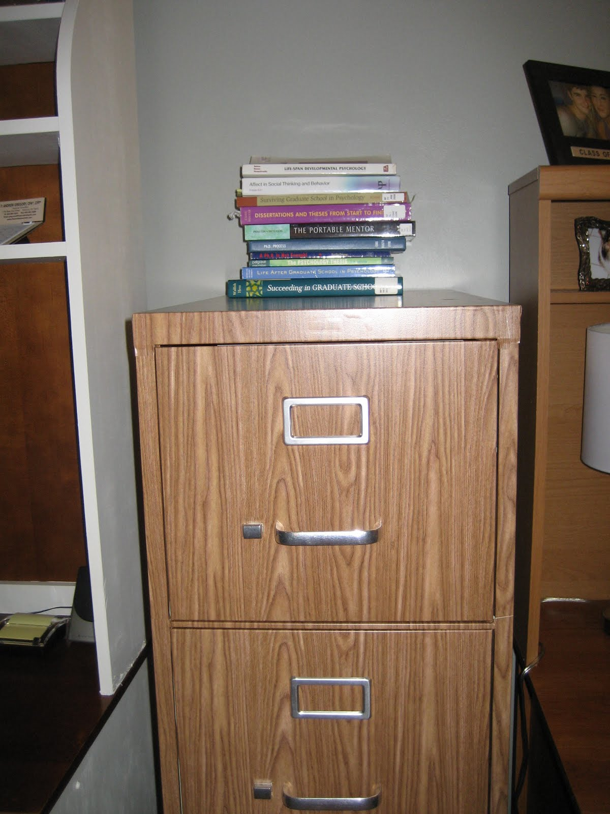 Tutorial: How To Cover A File Cabinet With Contact Paper