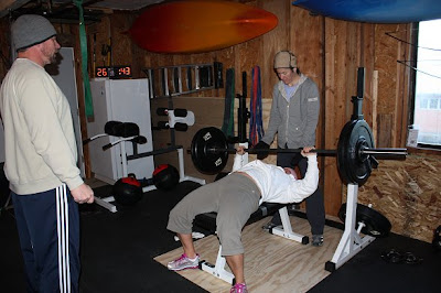 Everymom to ironmom gettin all rocky balboa in the garage gym