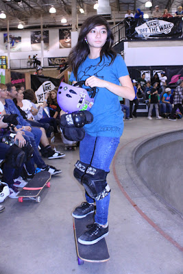 Girls Combi Pool Classic contest at Vans. Allysha Bergado