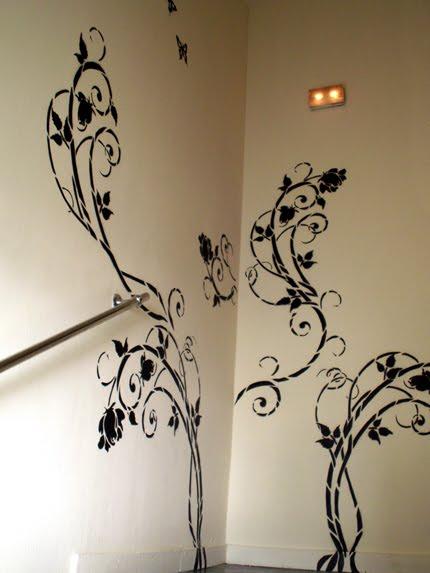 Ideas creativas para decorar la pared quiero m s dise o for Ideas para pintar paredes con disenos