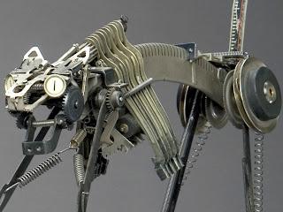 Felino Robotico reciclado